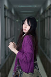 Asian girl in casual wear Royalty Free Stock Photo