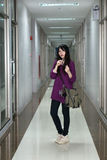 Asian girl in casual wear Royalty Free Stock Photography