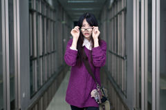 Asian girl in casual wear Royalty Free Stock Photos