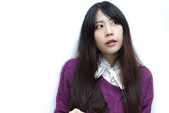 Asian girl in casual wear Royalty Free Stock Image