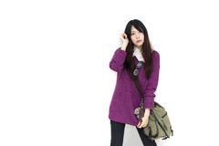 Asian girl in casual wear Stock Image