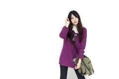 Asian girl in casual wear Stock Image