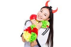 Asian girl cheerleader, chinese Stock Image