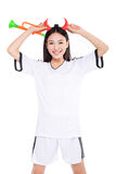 Asian girl cheerleader, chinese Royalty Free Stock Images