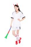 Asian girl cheerleader, chinese Royalty Free Stock Photos