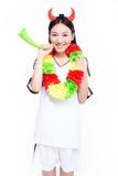 Asian girl cheerleader, chinese Stock Images
