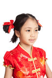 Asian girl in chinese cheongsam dress Royalty Free Stock Image