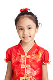 Asian girl in chinese cheongsam dress Stock Photo