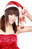 Asian girl in christmas Royalty Free Stock Images