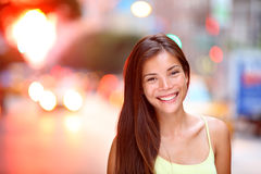 Asian girl city portrait Royalty Free Stock Photography