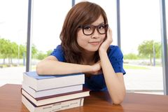 Asian girl in the classroom Royalty Free Stock Photos