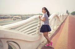 girl enjoy the sea breeze Stock Photography