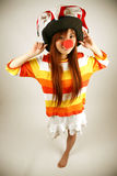 Asian girl clown Stock Images