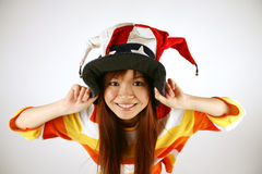 Asian girl clown Royalty Free Stock Image