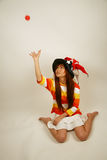 Asian girl clown Stock Photography