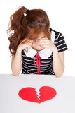 Asian girl cry with broken heart Stock Images