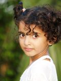Asian girl with curly hair Royalty Free Stock Photos