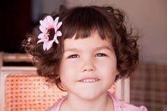Asian girl with curly short hair Stock Photos