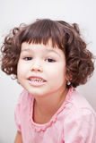 Asian girl with curly short hair Royalty Free Stock Image