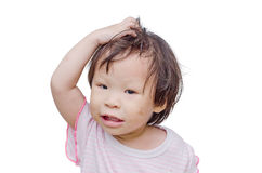 Asian girl with dirty face Stock Photos