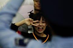 Asian girl doing v sign Royalty Free Stock Photo