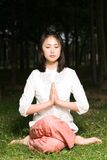 A asian girl doing yoga Stock Image