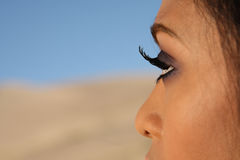 Asian  Girl, Eyelashes  Stock Photography