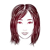 Asian girl face Royalty Free Stock Image