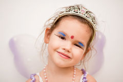 Asian girl in a fairy dress Stock Images