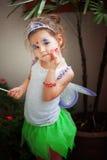 Asian girl in a fairy dress Stock Photos