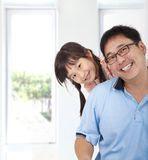 Asian girl and father Royalty Free Stock Photos