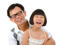 Asian girl and father Royalty Free Stock Image