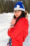 Asian girl in glasses Royalty Free Stock Image