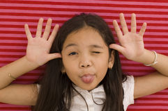 Asian Girl Goofing Around Royalty Free Stock Images