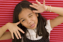 Asian Girl Goofing Around Stock Photos