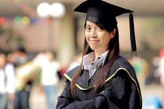 Asian girl graduation Royalty Free Stock Images