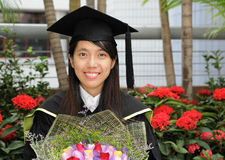 Asian girl graduation Stock Photos