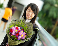 Asian girl graduation Royalty Free Stock Photo