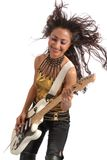 Asian girl guitarist Royalty Free Stock Photo