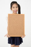 Asian girl hand holding woodboard Stock Image