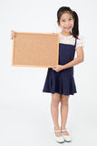 Asian girl hand holding woodboard Stock Photography