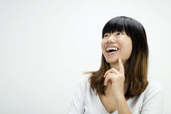 Asian girl having a thought Royalty Free Stock Image