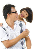 Asian girl and her father Royalty Free Stock Images