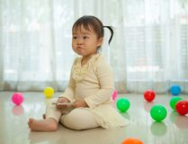 asian girl in home Royalty Free Stock Images