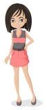 Asian Girl. Illustration of an Asian girl Royalty Free Stock Image