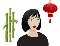 Asian girl illustration vector illustration