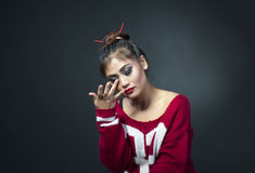 Asian girl. Indian girl with meke up Royalty Free Stock Images