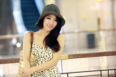 Asian girl indoor portrait stock image