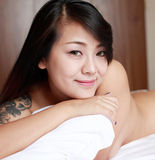 Asian girl indoor portrait Royalty Free Stock Photography