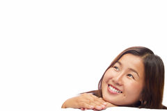 Asian girl isolated on white background. With clipping path Stock Images